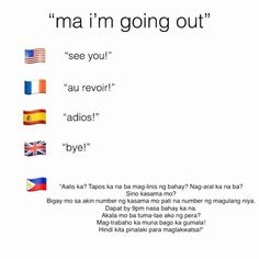 Filipino parents when you say you're going out for a bit: 25 Photos That Perfectly Sum Up The Difference Between American And Filipino Parents Memes Pinoy, Memes Tagalog, Pinoy Quotes, Filipino Funny, Filipino Quotes, Filipino Tattoos, Tagalog Quotes Hugot Funny, Hugot Lines Tagalog, Patama Quotes
