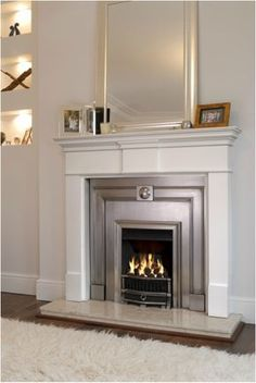 Home Design and Interior Design Gallery of White Minimalist Electric Fireplace I. , Home Design and Interior Design Gallery of White Minimalist Electric Fireplace Inserts Design. Classic Fireplace, Home Fireplace, Fireplace Remodel, Fireplace Surrounds, Fireplace Design, Fireplace Mantels, Fireplace Gallery, Fireplace Brick, Limestone Fireplace