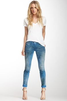 True Religion Casey Splatter Skinny Jean on HauteLook