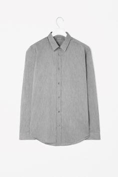 Slim-fit melange shirt
