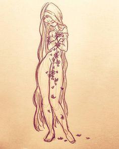 leeding flowers #art #draw #drawing #illustration #concept #conceptart #sketch #sketchbook #doodle #instaart #character #design