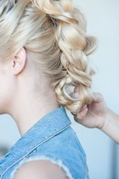 Hair How To: Banana Clip Braided Faux Hawk