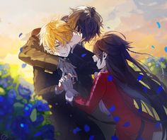 The best trio Gil,Oz and Alice (Pandora Hearts) Girls Anime, Anime Couples Manga, Cute Anime Couples, Manga Girl, D Gray Man Anime, I Love Anime, Pandora Hearts Oz, Pandora Charms, Pandora Bracelets