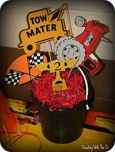 Cricut Cars Birthday Party - tractor