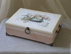Купить Шкатулка для книги пожеланий - комбинированный, шкатулка, шкатулка декупаж, для хранения, для книги пожеланий