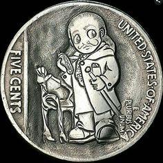 Hobo nickel buffalo nickel. Salvador Dalí. Artist Blanca de la Hoz. Hobo Nickel Coins for sale Hobo Nickel, Dali, The Unit, Fictional Characters, Salvador Dali, Fantasy Characters