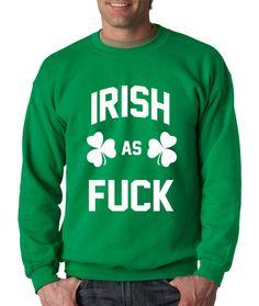 Crewneck Irish as F Long Sleeve Mature Sweatshirt from $15.99 at xpressiontees.etsy.com | #ExpressionTees