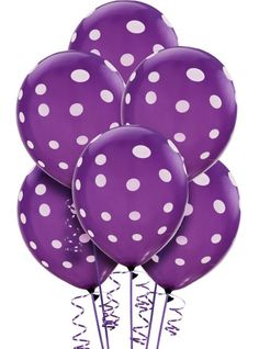 Lavender Balloons instantly brighten up your party space, no matter the occasion. This wide selection of Lavender Balloons includes foil and latex balloons in a variety of shapes, sizes and patterns. Polka Dot Balloons, Purple Balloons, Printed Balloons, Latex Balloons, Purple Love, All Things Purple, Purple Rain, Polka Dot Print, Polka Dots