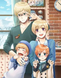 sufin with landonia and sealand <----- REPINNING BECAUSE THERE IS A STUNFISK ON SWEDEN'S SHIRT!