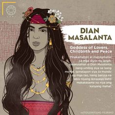 Dian Masalanta is the most loving of the gods in heaven, punished by God for lov. - Dian Masalanta is the most loving of the gods in heaven, punished by God for loving a mortal. Filipino Words, Filipino Art, Filipino Culture, Filipino Tattoos, Philippine Mythology, Philippine Art, Cultura Filipina, Traditional Filipino Tattoo, Philippines Tattoo