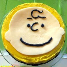 Charlie Brown cake...the perfect cake for my great nephew, Micah David!