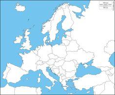 Europa : Mapa gratuito, mapa mudo gratuito, mapa en blanco gratuito, plantilla de mapa : estados