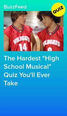 """The Hardest """"High School Musical"""" Quiz You'll Ever Take High School Musical Quizzes, Wildcats High School Musical, Quizzes Funny, Quizzes For Fun, Buzzfeed Friends Quiz, Disney High Schools, Friend Quiz, Disney Quiz, What Team"""
