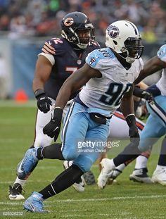 News Photo : Brian Orakpo of the Tennessee Titans chases a...