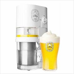 Frozen Beer Slushy Maker Super - Find unique gift ideas for foodies, for those who love to cook, love to eat, wine lovers, bar accessories and that enjoy unique kitchen gifts and accessories at Gifteee Unique Gifts, Cool gifts for men and women Frozen Beer, Frozen Drinks, Top Drinks, Alcoholic Drinks, Beverages, Cocktails, Slushies, Slurpee, Slushy Maker