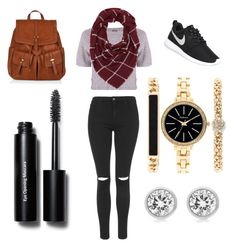 """""""Untitled #3"""" by mina-mcgill on Polyvore featuring Monrow, Topshop, Charlotte Russe, NIKE, Accessorize, Style & Co., Michael Kors and Bobbi Brown Cosmetics"""