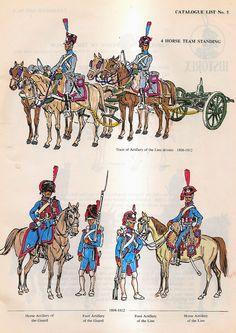 Treno di artiglieria e artiglieria a piedi e a cavallo della linea e della guardia imperiale