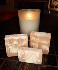 Pillar Candles, Soaps, Food, Bath Soap, Meal, Eten, Lotion Bars, Meals, Soap
