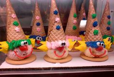 clown cones from Baskin Robbins