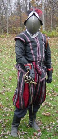 """Insane About Garb"" has an article on fencing garb. Nice info and pictures.   This looks nearly like something to wear for the Renaissance Festival."