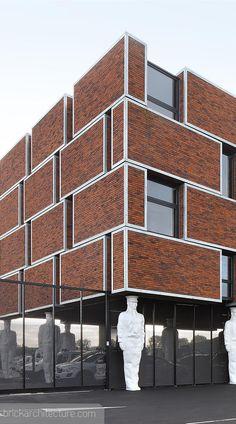 Do you love bricks? Architecture Concept Drawings, Brick Architecture, Brick Works, Brick Laying, Brick Facade, Police Station, Red Bricks, Building Materials, Building Design