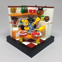 I will eat some breakfast, then rule the world. Star Wars Boba Fett, Star Wars Clone Wars, Star Wars Art, Lego Star Wars, Star Trek, Lego Kitchen, Lego Humor, Lego Minifigure Display, Durham Museum