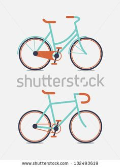 Retro Illustration Bicycle by Dooder, via ShutterStock