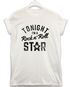 Rock n Roll Star - Lyric Quote T Shirt - White / Large