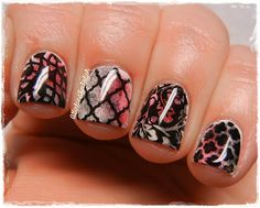 """Love this dracula mani from """"A girl and her polish""""!  using image plate MM13 and MM16"""