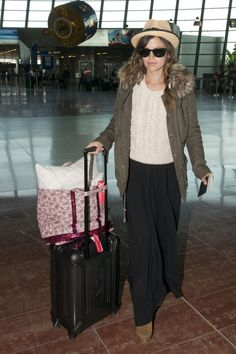travel outfit. with palazzo
