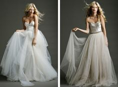(image on right) long tulle skirt/dress...minus the bridal look :-)