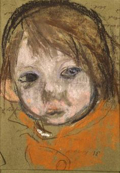 Title detail page for Sketch Drawing Red Haired Girl by Joan Kathleen Harding EARDLEY Popular Artists, Famous Artists, Gouache, Drawing Sketches, Drawings, Pastel Portraits, Glasgow School Of Art, Outsider Art, Western Art