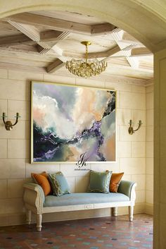 Original Large Abstract Oil Painting Large Wall Art by Julia Kotenko #abstractart
