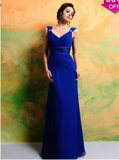 A-line V-neck Floor-length Chiffon Royal Blue Party Dresses #AUSA019662 - See more at: http://www.avivadress.com/wedding-apparel/bridesmaid-dresses/floor-length-bridesmaid-dresses.html?p=2#sthash.gmiOhxTV.dpuf