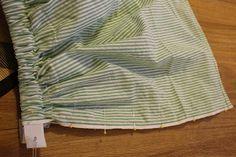 Sew your own seersucker skirt! 20 Minute elastic skirt.
