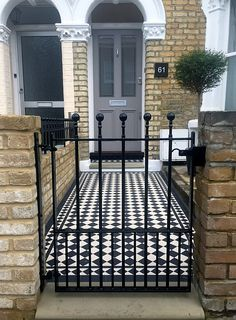 East dulwich victroian mosaic balck and white three inch 70mm tiles london