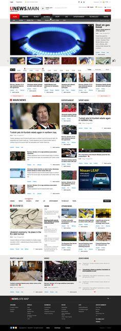 Ukrainian News by tdeser , via Behance