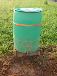 For weeks and weeks I have hauled buckets of water down to the pig pen and poured them into a giant-sized dog dish looking thing - only to w. Pig Shelter, Animal Shelter, The Doors, Hog Waterer, Goat Feeder, Rain Barrel System, Goat Barn, Pig Pen, Farm Projects