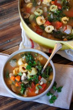 Kale Tortellini Soup   It isn't even fall and I am thinking about soup already!