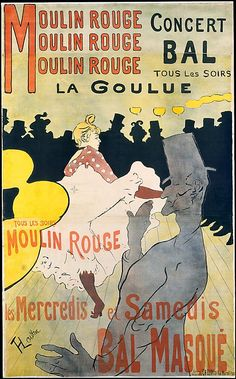 Henri de Toulouse-Lautrec (French, 1864–1901). Moulin Rouge: La Goulue, 1891. The Metropolitan Museum of Art, New York. Harris Brisbane Dick Fund, 1932 (32.88.12) #dance