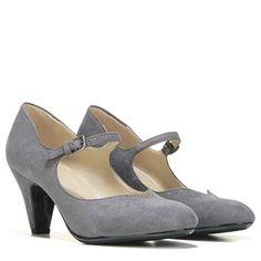 f160066fd706 Naturalizer Believe Mary Jane Pump Grey Microfiber Teacher Shoes