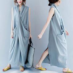 Blue long dresses