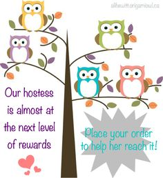 Hostess rewards - origami owl
