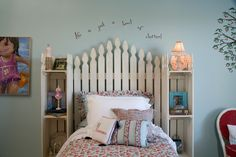 It's a picket fence in the bedroom. Your little girl will enjoy.