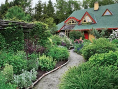 Straw bale cottage and garden