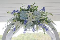 Twinbrook Floral Design Blue Wedding Arrangements, Floral Design, Plants, Floral Patterns, Plant, Planets