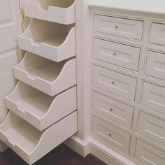 "Hostetler Custom Cabinetry on Instagram: ""Give us all the storage. #customcabinetry #kiawah #charleston #coastalliving #mastercloset #rollouts #design @bevanandliberatos"" Drawer Organizers, Linen Closet, Bathroom Storage, Linen Storage, Storage, Cabinetry, Speciality Cabinets, Custom Cabinetry, Master Closet"