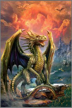 Mystical Animals, Mythical Creatures Art, Magical Creatures, Fantasy Creatures, Dark Fantasy, Fantasy Art, Dragon Medieval, Mythical Dragons, Dragon Pictures