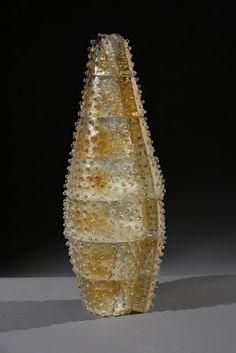 Jeremy Popelka, Interstice, sand cast glass, 8x21x8 inches
