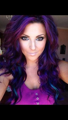 Plum hair. Wow! Don't know if I could pull it off, but it's pretty & so much fun!
